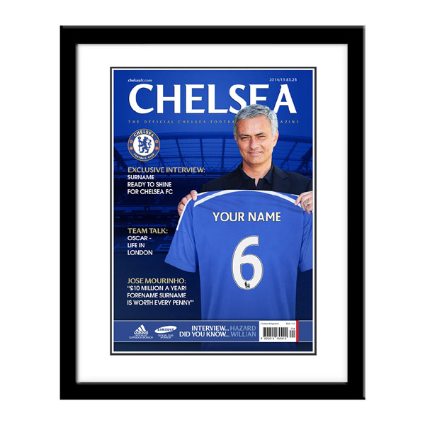 Personalised Chelsea Magazine Cover - Framed - Chelsea Gifts