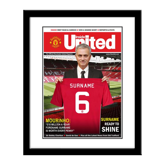 Personalised Manchester United Magazine Cover - Framed - Manchester Gifts