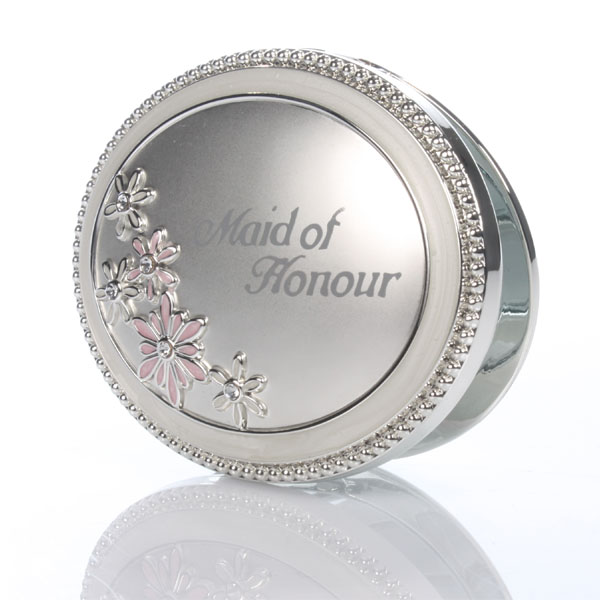 Personalised Maid Of Honour Compact Mirror - Maid Of Honour Gifts