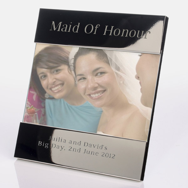 Engraved Maid Of Honour Photo Frame - Maid Of Honour Gifts
