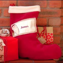 Luxury Personalised Christmas Stocking