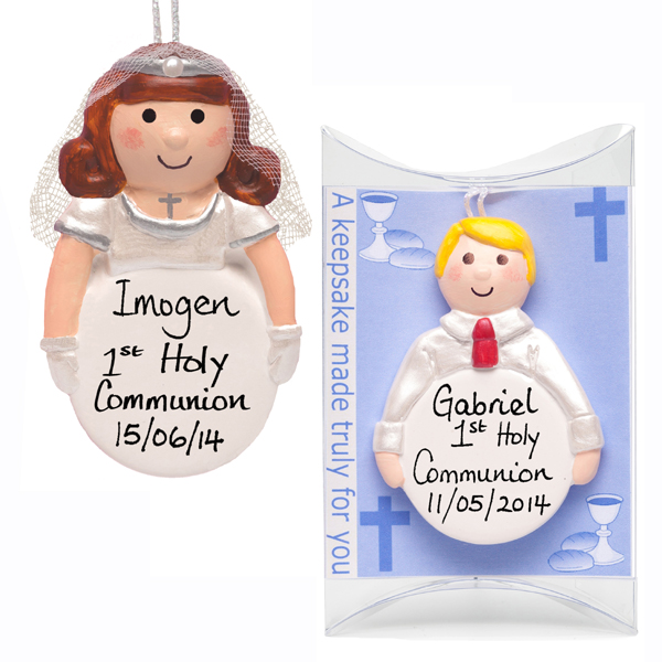 Personalised 1st Holy Communion Hanging Ornament - First Holy Communion Gifts