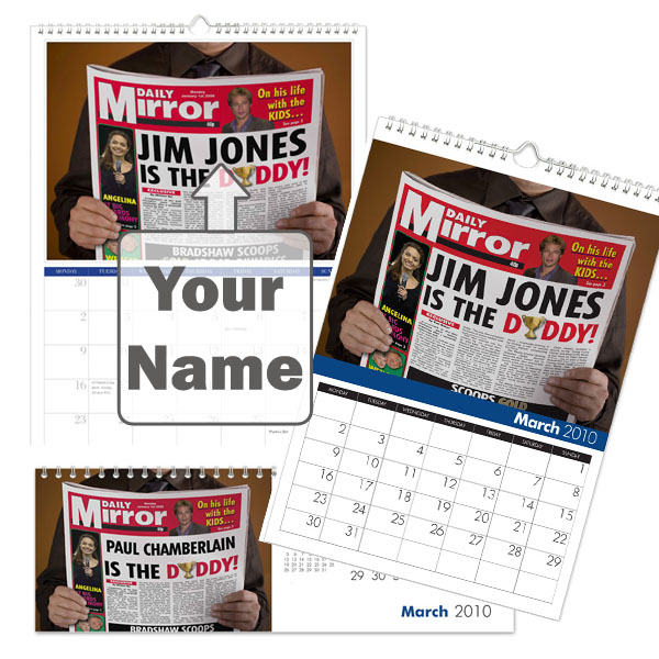 Personalised Best Dad Calendar Desktop - Dad Gifts