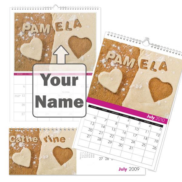 Personalised Best Mum Calendar Desktop