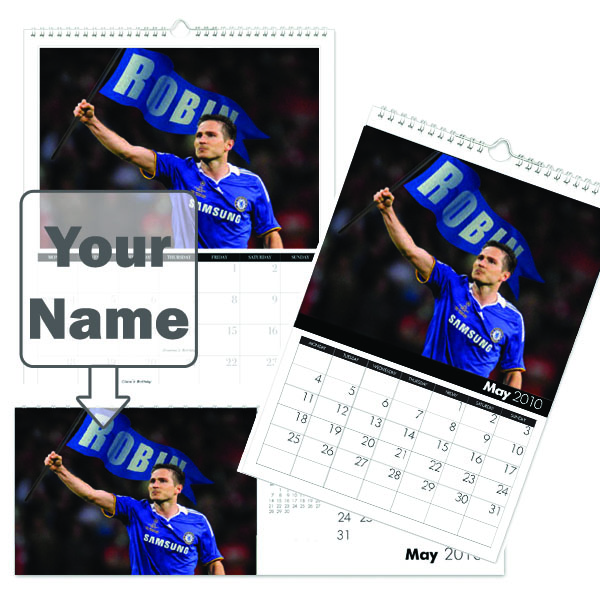 Personalised Chelsea Legends Calendar A3 - Chelsea Gifts