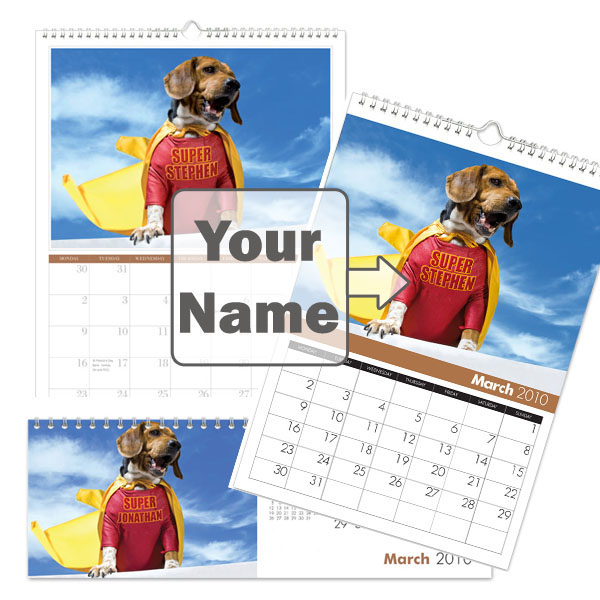 Personalised Dog Calendar A5 - Seek Gifts