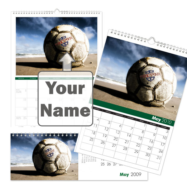 Personalised Football Fan Calendar A4