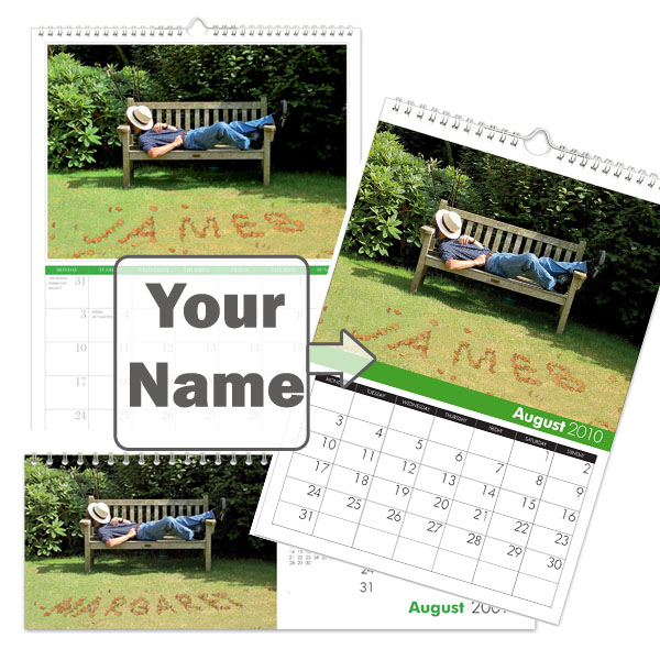 Personalised Gardening Calendar A3