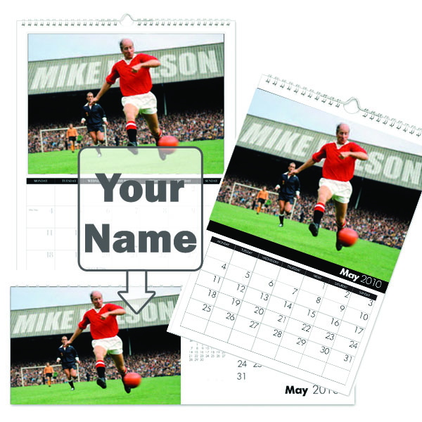 Personalised Manchester United Legends Calendar A5 - Manchester Gifts