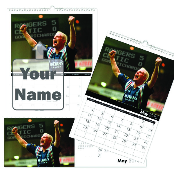 Personalised Rangers Legends Calendar A3 - Rangers Gifts