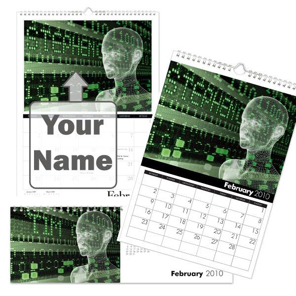 Personalised Sci-Fi Calendar A3