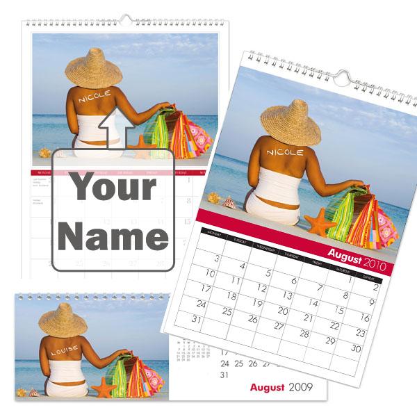 Personalised Shop Till You Drop Calendar Desktop - Shop Gifts