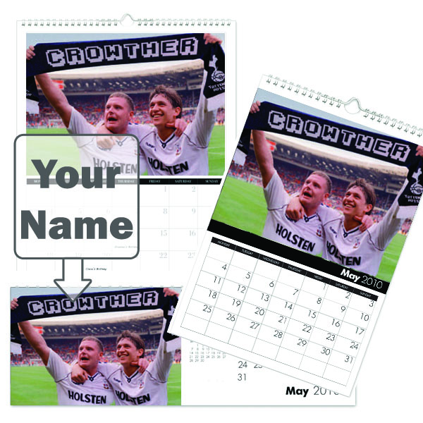 Personalised Spurs Legends Calendar A3 - Spurs Gifts