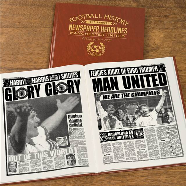 Personalised Manchester United Football Book Embossed - Manchester Gifts