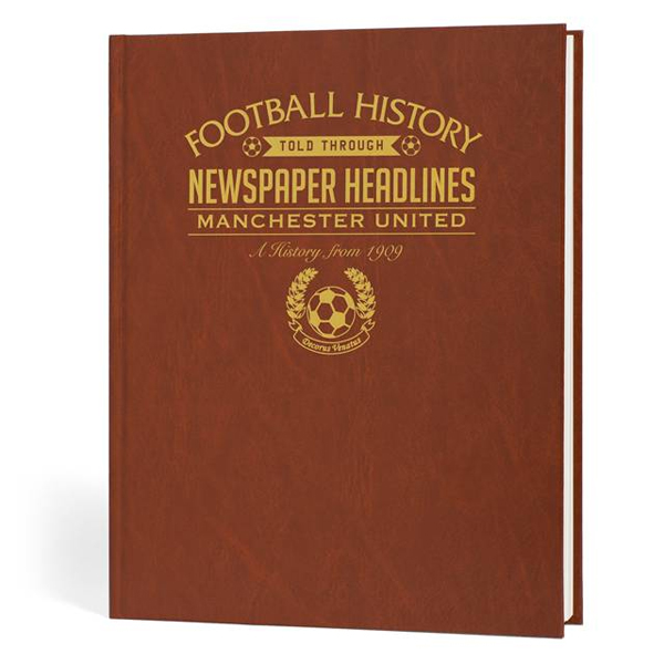 Personalised Football Book Manchester Utd - Manchester Gifts