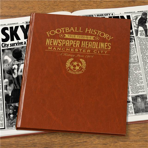 Personalised Manchester City Football Book Embossed - Football Gifts
