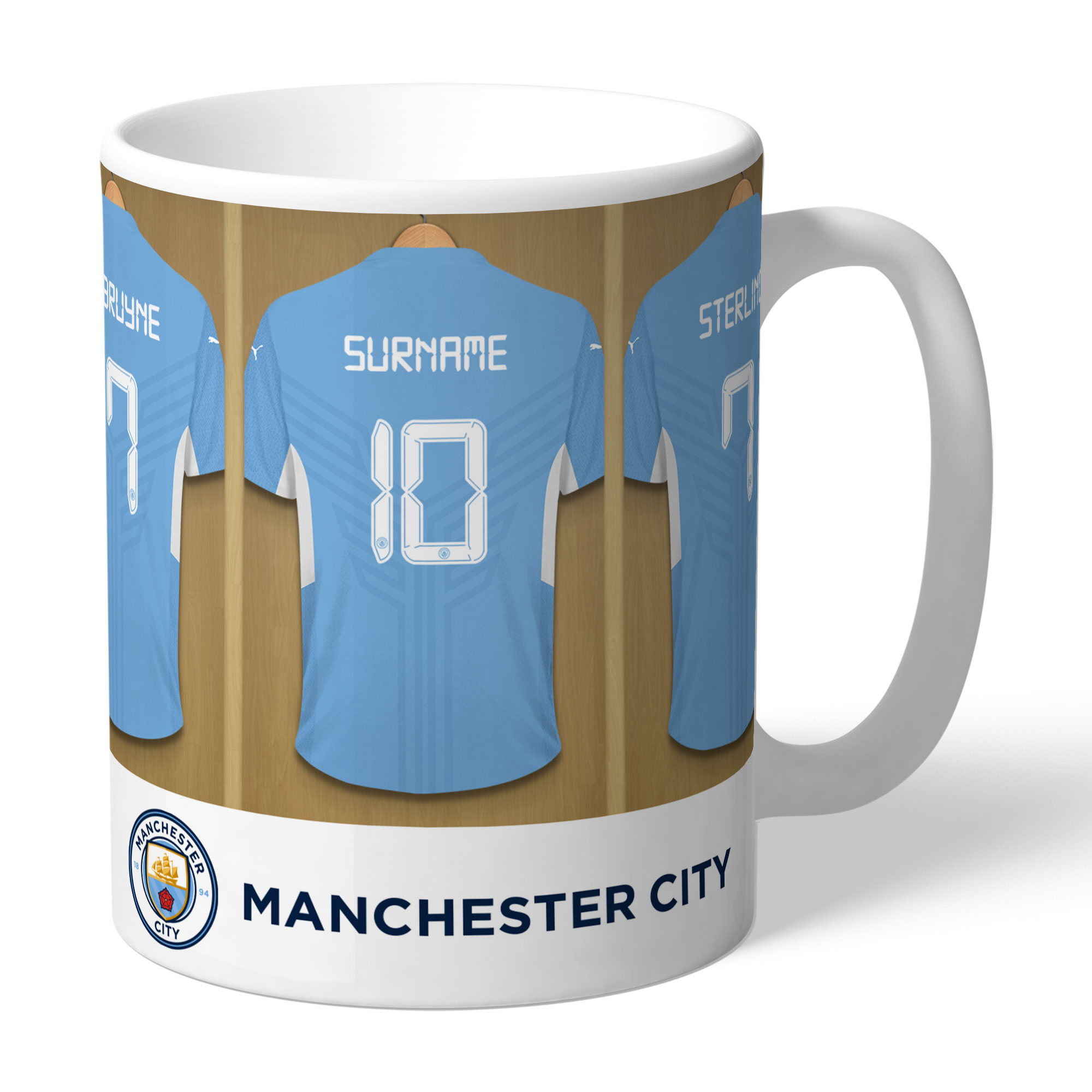 Personalised Manchester City Dressing Room Mug - Manchester City Gifts