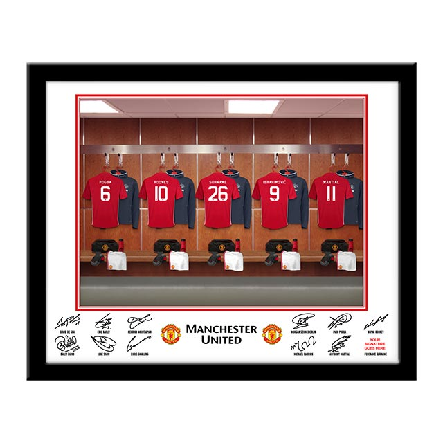 Personalised Football Dressing Room Framed Photo