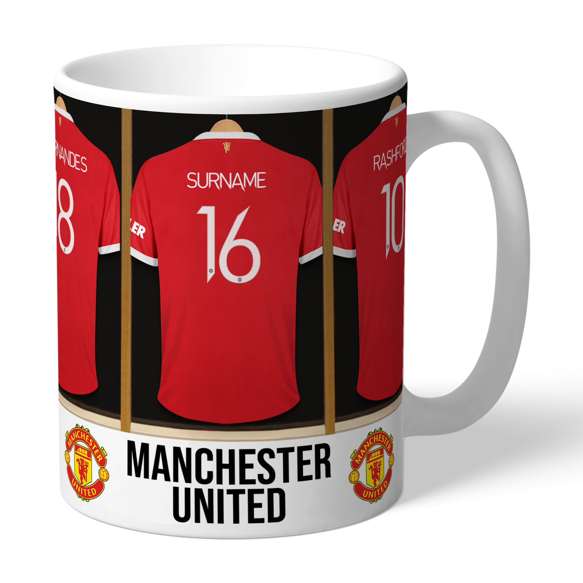 Personalised Manchester United Dressing Room Mug - Manchester Gifts