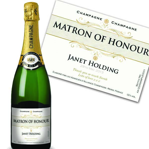 Matron Of Honour Personalised Champagne Luxury Gift Box
