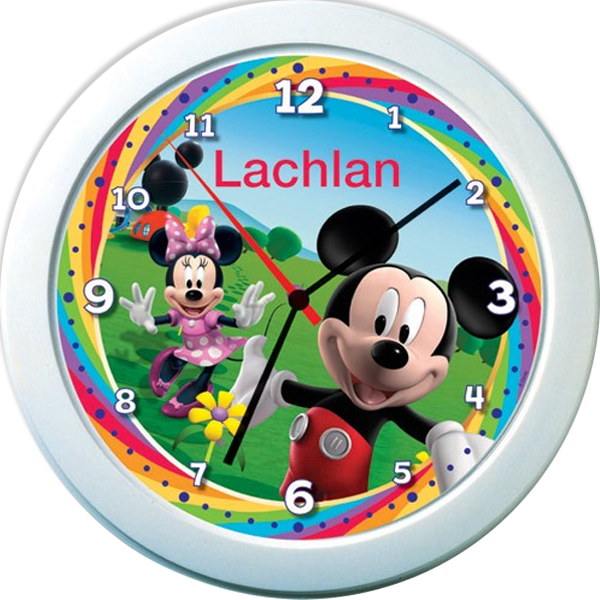 Mickey Mouse Clubhouse Personalised Clock