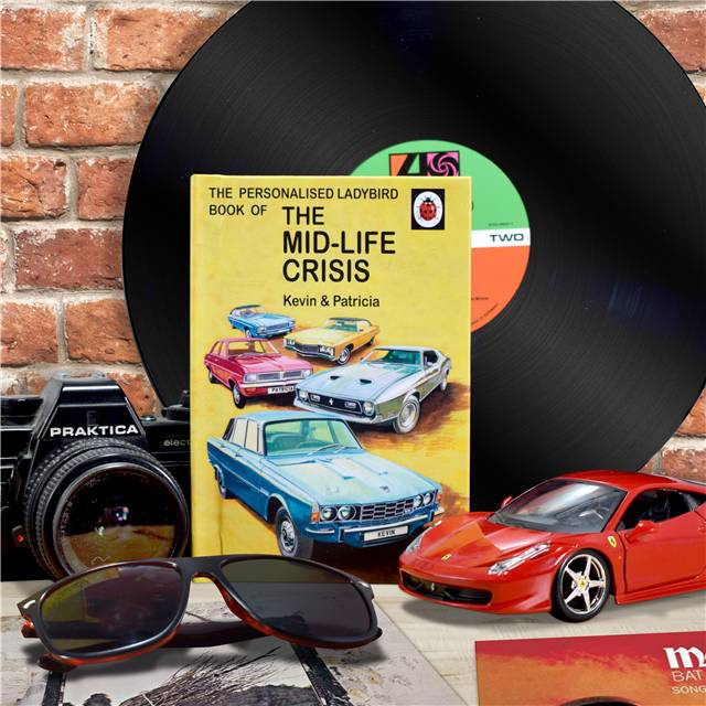 Personalised Ladybird Books For Adults - The Mid-life Crisis The Mid-life Crisis for Him - Books Gifts