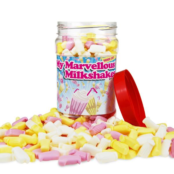 Retro Sweets Marvellous Milkshakes Jar - Retro Sweets Gifts