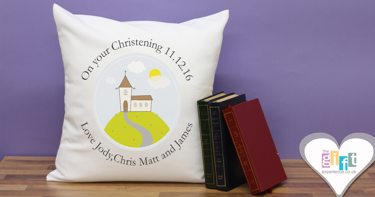 Modern Christening Cushion