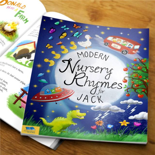 Modern Nursery Rhymes Book Modern Nursery Rhymes - Hardback - Nursery Gifts