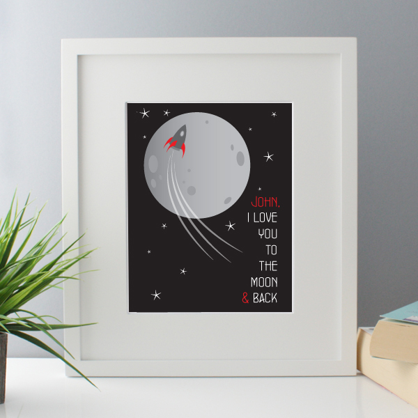 I Love You To The Moon And Back Personalised Framed Print