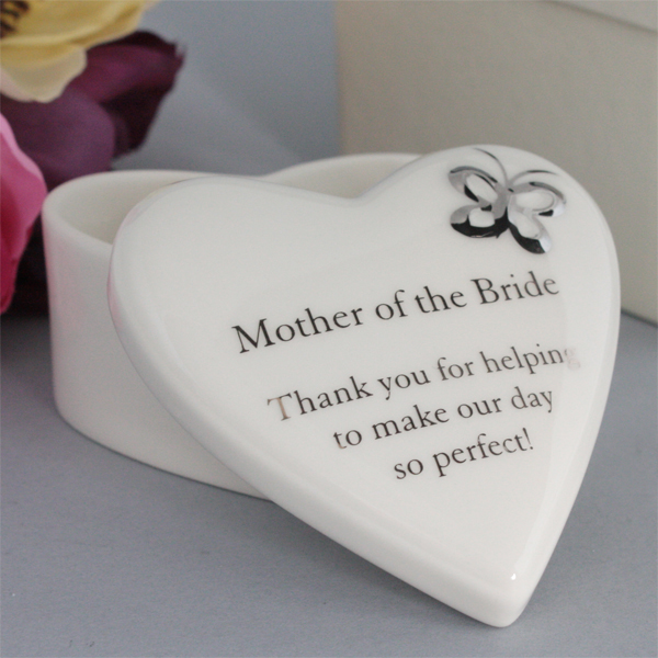 Wedding Gift Ideas Experience : Mother of the Bride Porcelain Heart Trinket Box