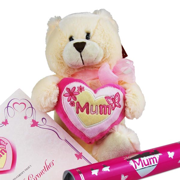 Mothers Day Teddy Bear with Personalised Certificate