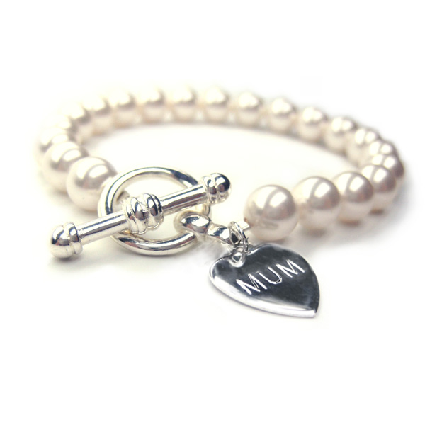 Mothers Day Personalised Pearl Forever Bracelet
