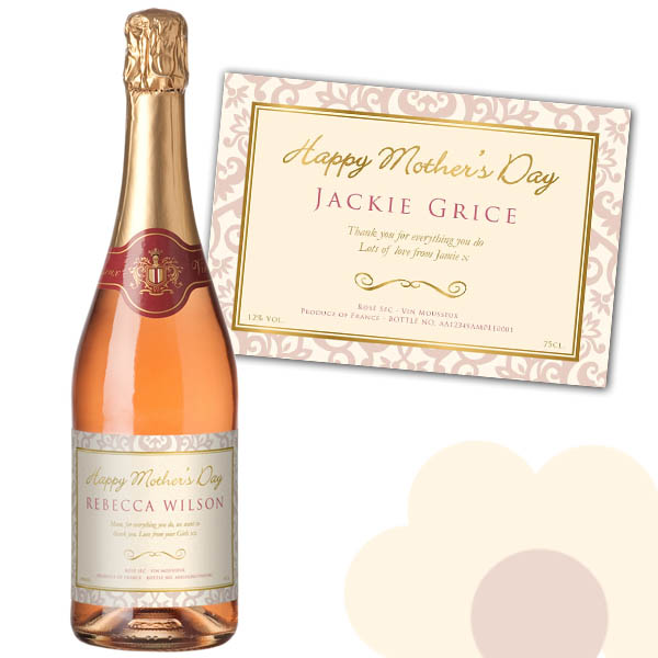 Mothers Day Sparkling Rose Wine Gold Gift Carton