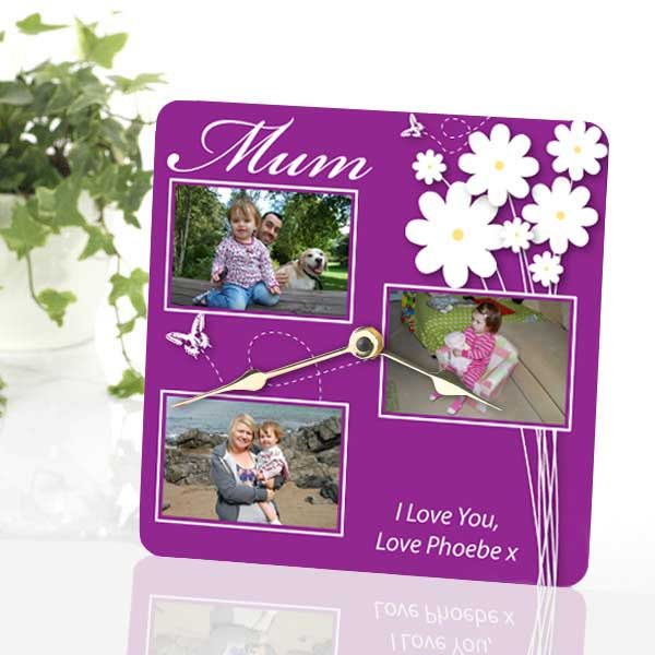 Mothers Day Personalised Photo Clock