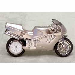 Motorbike Miniature Clock