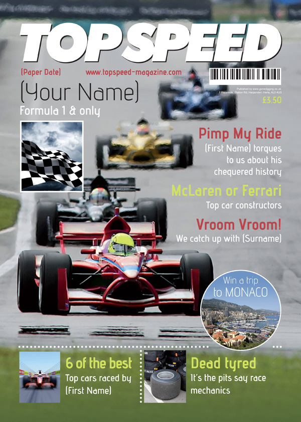 Motor Sport Magazine Spoof Print Only