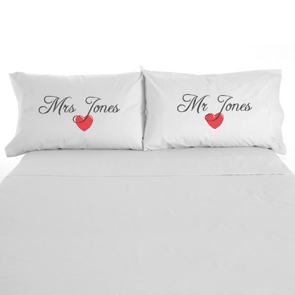 Pair Of Mr & Mrs Pillowcases