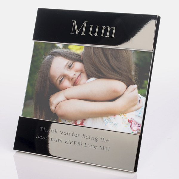 Engraved Mum Shiny Silver Photo Frame - Mum Gifts