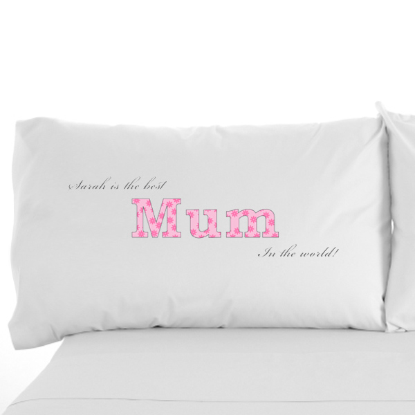 Personalised Mum Pillowcase