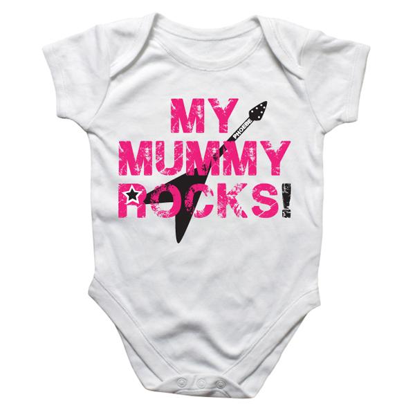 Personalised My Mummy Rocks Baby Grow - Babygrow Gifts