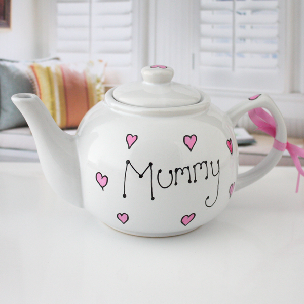 Personalised Mummy Hand Painted Teapot - Teapot Gifts