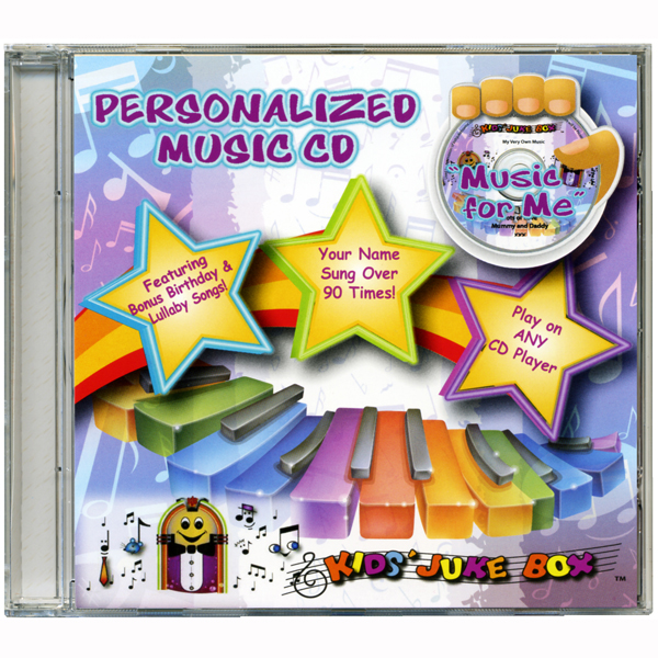 Music for Me - Personalised Childrens Songs CD - Music Gifts