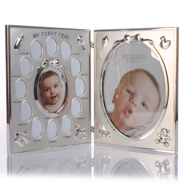 My First Year Double Photo Frame - Photo Frame Gifts