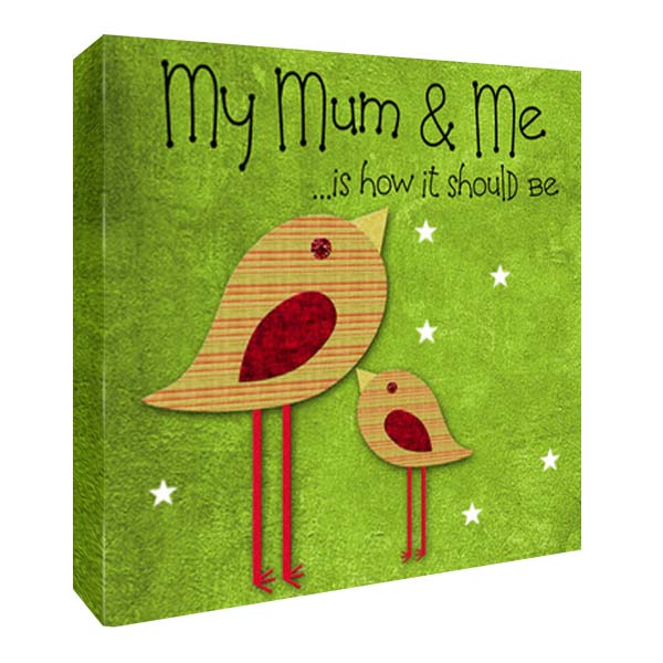 My Mummy And Me Personalised Canvas Print 8 By 8 Inches