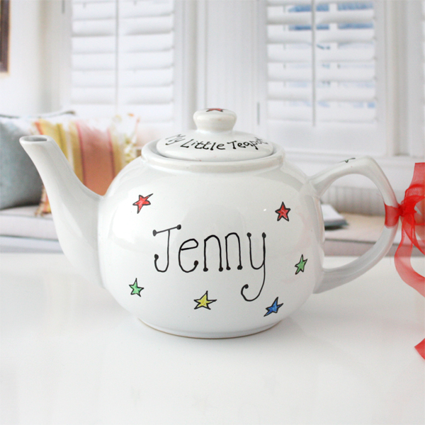 Personalised Hand Painted Ceramic Teapot - Teapot Gifts