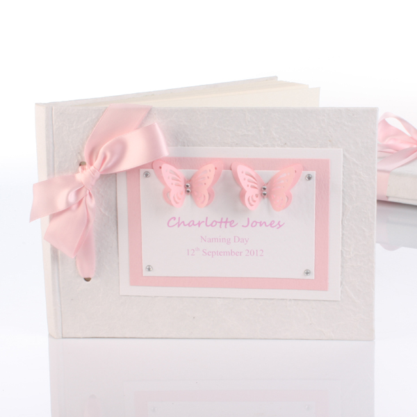 Personalised Naming Day Photo Album - Pink - Naming Day Gifts