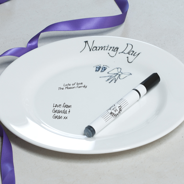 Naming Day Signature Plate - Naming Day Gifts