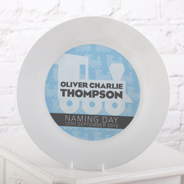 Personalised Naming Day Plate - Boy - Naming Day Gifts