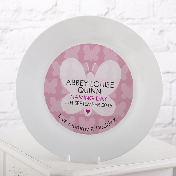 Personalised Naming Day Plate - Girl - Naming Day Gifts